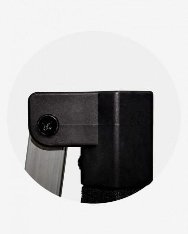 """""""B"""" Angle de pied (ø 45) pour barnum aluminium 45 noir"""