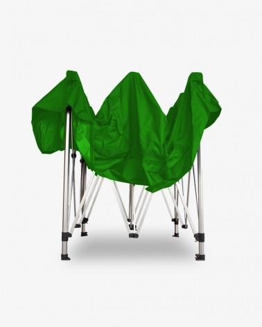 barnum aluminium 45 2,5m x 2,5m vert - barnum pas cher - pour marchands