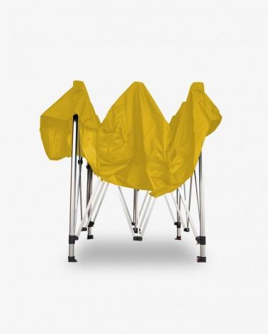 barnum aluminium 45 2,5m x 2,5m jaune - barnum pro pas cher - stand pliant