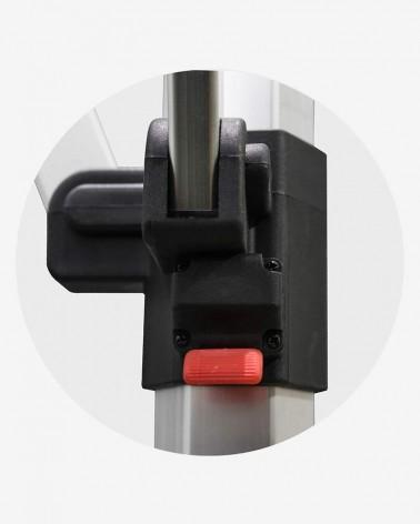 """""""G"""" Bouton poussoir haut (ø 45) pour barnum aluminium 45 2,5m x 2,5m rouge"""