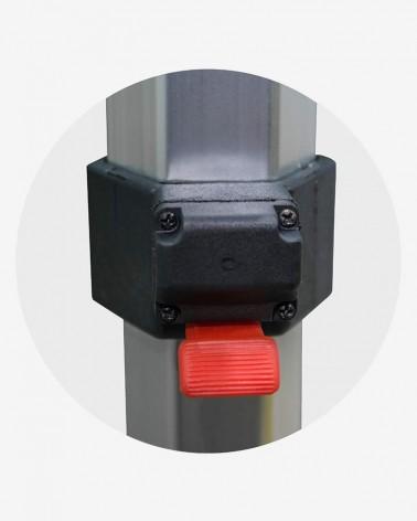 """""""E"""" Bouton poussoir bas (ø 45) pour barnum aluminium 45 2,5m x 2,5m rouge"""