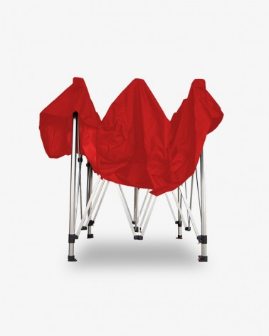 barnum aluminium 45 2,5m x 2,5m rouge - barnum pas cher - pour marchands